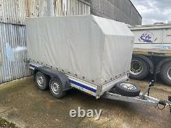 10ft x 5ft Twin Axle Curtainside Box Trailer Fully Braked 2000kg