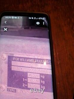 12 FOOT x 6 FOOT TWIN AXLE IFOR WILLIAMS TRAILER