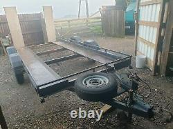14 Ft (loading bed)Twin Axle Car Trailer