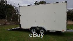 14ft Blue Line Twin Axle Tow A Van Box Trailer Ramp Door Blueline 3500kg