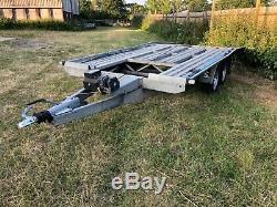 15 ft x2.1m twin axle car transport trailer l@@k