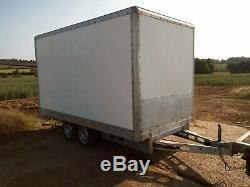 2000kg Twin Axle Box Trailer