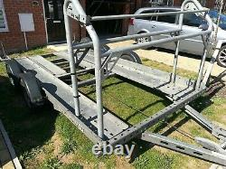 2003 Brian James Twin axle car Trailer Transporter with tyre rack