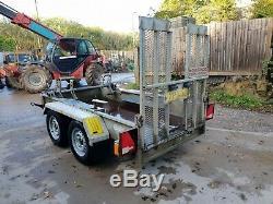 2013 Indespension AD2000 DiggaDoc Twin Axle Plant mini digger Trailer £1150+vat