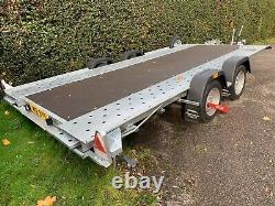 2020 Woodford WBT-110 Wide Body Twin Axle Car Transporter Trailer 14' x 6'6 Bed
