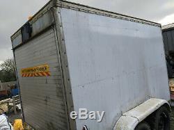 3500kg 3.5ton large heavy duty braked twin axle box trailer