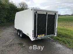 4.2m/4.5m Enclosed Race Car Trailer Covered Eco-Trailer winch tilt custom built