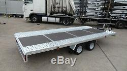 5m x 2,1m car transporter trailer 2700kg MGW al-ko suspension Braked twin axle