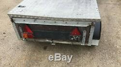 6'x 4'Twin Axle Car Trailer With Hinged Alloy Cover NO VAT Good Tyres & Spare