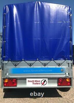 8'8 x 4'1 TWIN AXLE TRAILER with High Frame & Heavy Duty Cover 265x125x85cm