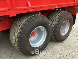 8T & 10T DROPSIDE TIPPING TRAILERS, Dump trailer, tractor, jcb, digger, McCauley, jpm
