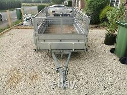 8x4 Twin Axle Tipping Trailer with Cage Extensions