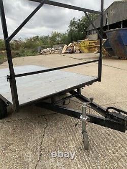 9x5 Flat Bed Twin Axle Trailer