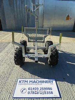 ATV Timber Trailer, 1.5 Ton Forestry Trailer, KTM Machinery Quad Bike Trailer