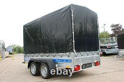 BOX CAR TRAILER 3m x 1,5m TWIN AXLE 750KG 2019 MODEL BRAND NEW TIPPING TRAILER