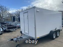 BOX TRAILER 13ft x 6,6ft x 6,2ft TWIN AXLE 3500KG 4M X 2M KNOTT SUSPENSION