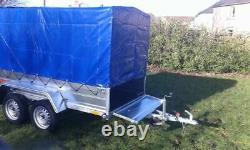 BRAND NEW MODEL 8.7x4.2 TWIN AXLE TRAILER WITH FRAME AND 150CM COVER 750KG