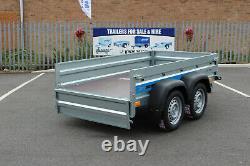 BRAND NEW trailer twin axle 8'8 x 4'2 Faro SOLIDUS 263cm x 125cm, 40cm mesh