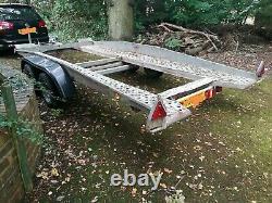 BRENDERUP tilted twin axle car Transporter Trailer 2700kg 14ft
