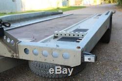 BRIAN JAMES HIMAX TWIN AXLE TILT 3.5 ton Car Trailer + Manual Winch (£5k new)