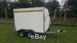 Bateson 160v Twin Axle Braked Box Trailer Ramp 1300kg Gross Motorbike