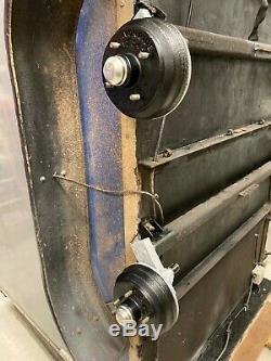 Bateson 8x4 twin axle box trailer tow a van rear barn doors