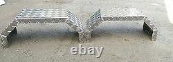 Bespoke Metal Aluminium trailer mudguards, single axle, twin axle, project, custom