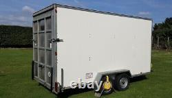 Blue Line Box Van Twin Axle Danish Trolley Trailer 14 X 6 X 7 3500kg