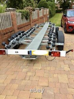 Boat Trailer 3000Kg Twin Axle Galvanised Braked SBS R4 3000 Euro spec