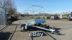 Box Car Trailer 10ft X 5ft Twin Axle Unbrakde 750kg Canvas Cover 5,2ft