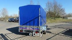 Box Tipping Car Trailer 10 X 5 Twin Axle Class 750kg With Canvas Cover Al-ko