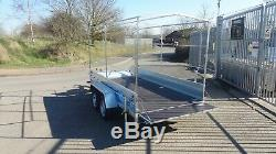 Box Trailer Car Trailer 10ft X 5ft Twin Axle Class 750kg With Canvas Cover