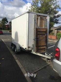 Box Trailer Twin Axle Market /show Lift Up Side Good Brakes And Lights