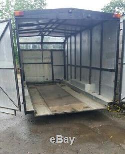 Brain james Enclosed race trailer twin axle box trailer tilt bed 16ft