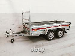 Brand New Twin Axle Trailer 263 cm x 125 cm 750 kg with Ladder Rack
