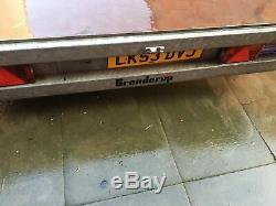 Brenderup 17ft 3000KG Farm Builder Trailer / Flatbed Car Transporter Twin Axle