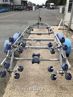 Brenderup 2500kg Twin Axle Roller Boat Trailer