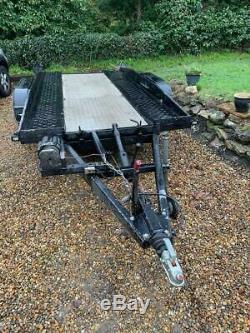 Brenderup Twin Axle Tilt Car Transporter Flat Trailer 13ft x 6ft
