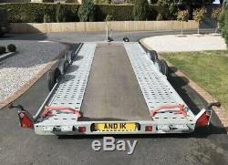 Brian James A4 Twin Axle Motorsport Trailer Car Transporter 5m X2m Top Spec