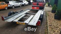 Brian James Clubman Twin Axle Car Trailer Transporter 13ft Tow Bed & Store Box