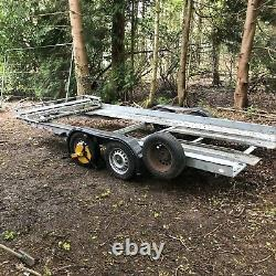 Brian James Clubman Twin axle car Trailer Transporter with tyre rack