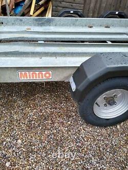 Brian James Minno Car Transporter Car Trailer with spare wheel rack