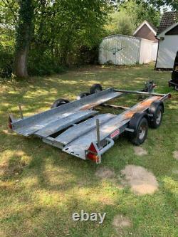Brian James Minno Twin Axle car Transport trailer