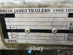 Brian James Trailer Twin Axle car trailer with Tyre rack. Transporter