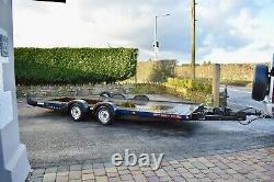 Brian James car trailer A4 transporter twin axle