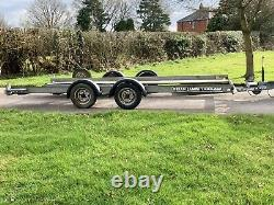 Brian James car transporter twin axle trailer