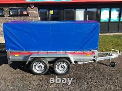 CAR BOX TRAILER 8'7 x 4'1 TWIN AXLE UNBRAKED 750KG DOUBLE AXLE