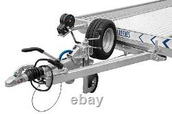 CAR TRAILER FLATBED TWIN AXLE 16,5 FT X 6,7 FT 3500 KG with LED LIGHTS