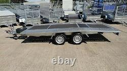 CAR TRANSPORTER TRAILER 5m x 2,1 3000KG TWIN AXLE AL-KO CAR TRAILER BEAVERTAIL