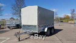 Canvas Cover 4 Car Trailer 8x4 Twin Axle Unbraked 750kg + Free Trailer